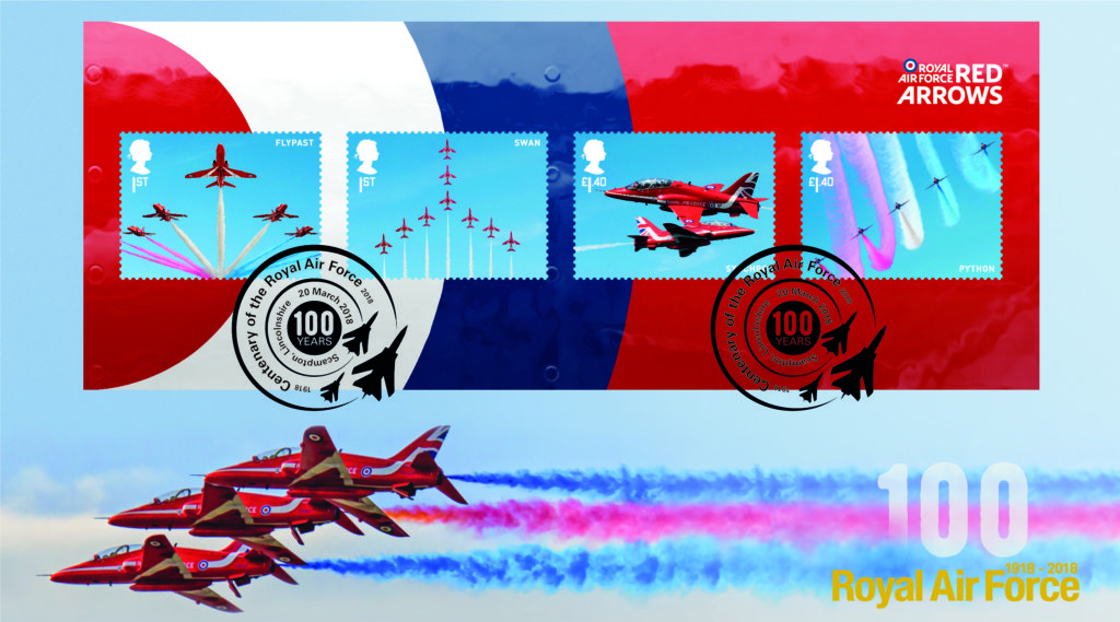 Buckingham First Day Cover Red Arrows RAF