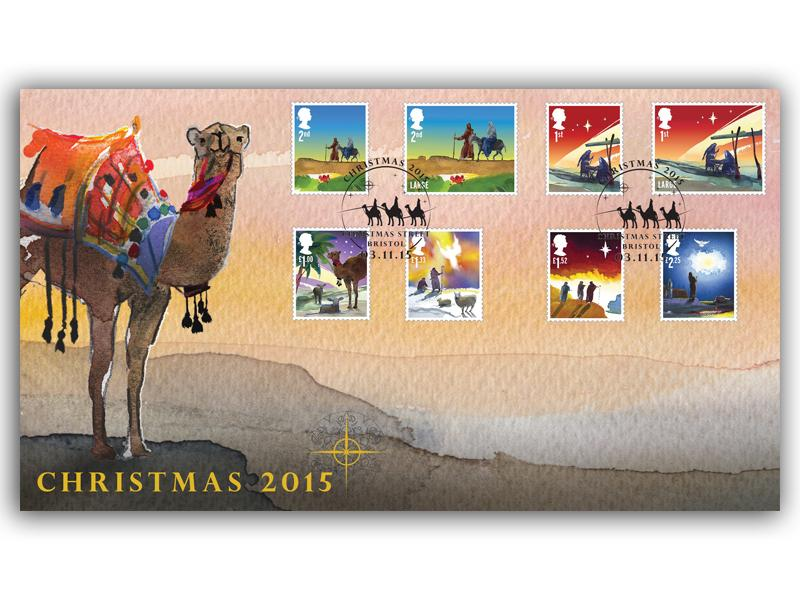 Christmas 2015 Stamps Cover
