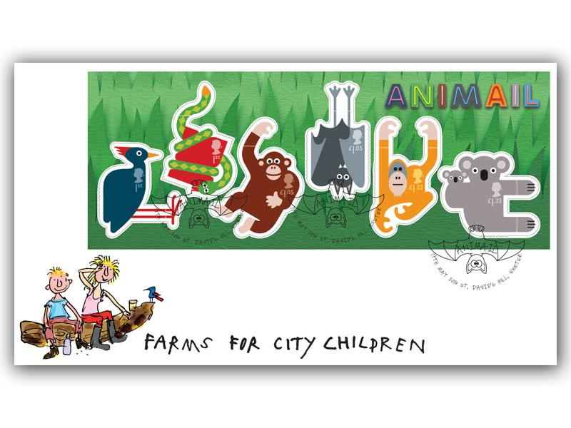 Animail Miniature Sheet First Day Cover