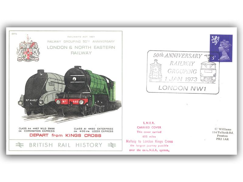1973 50th Anniversary of the Railway Grouping - London and North Eastern Railway
