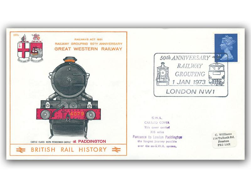1973 50th Anniversary of the Railway Grouping - Great Western Railway