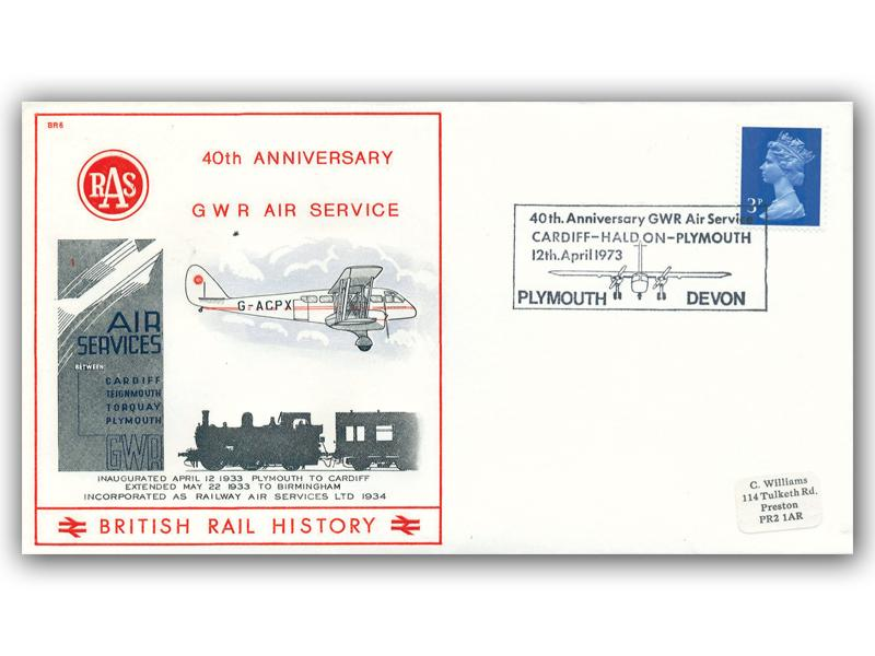 1973 40th Anniversary of the GWR Air Service - Plymouth