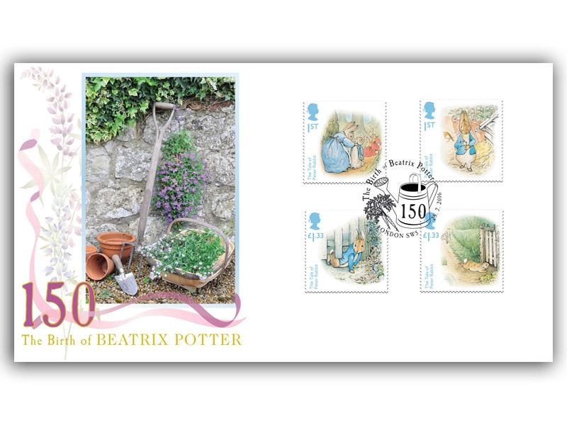 150th Anniversary of the Birth of Beatrix Potter Stamps From The Miniature Sheet
