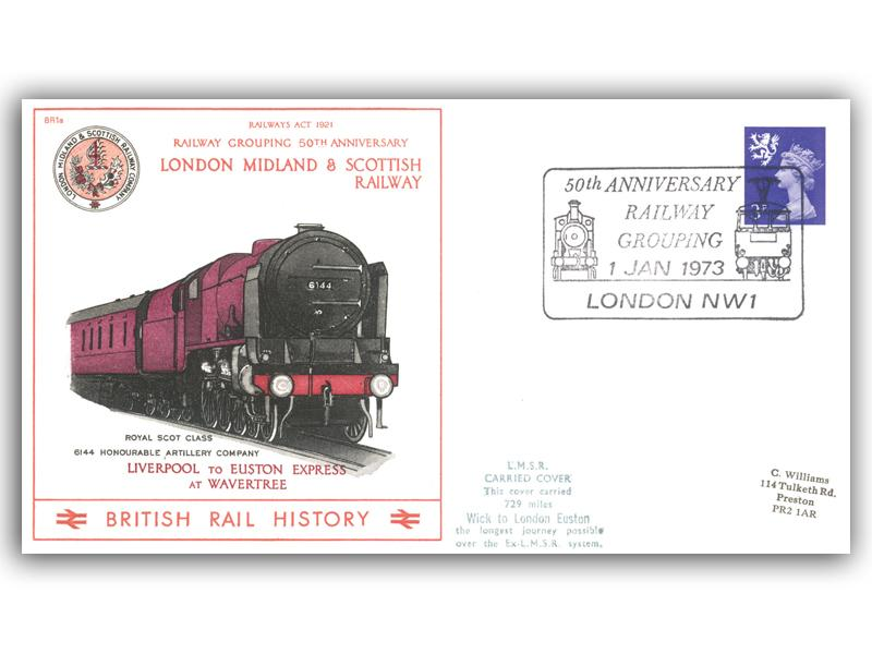 1973 50th Anniversary of the Railway Grouping - London, Midland and Scottish Railway