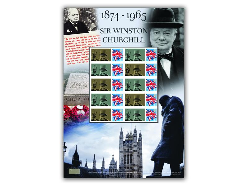 Sir Winston Churchill 75th Anniversary Stamp Sheet