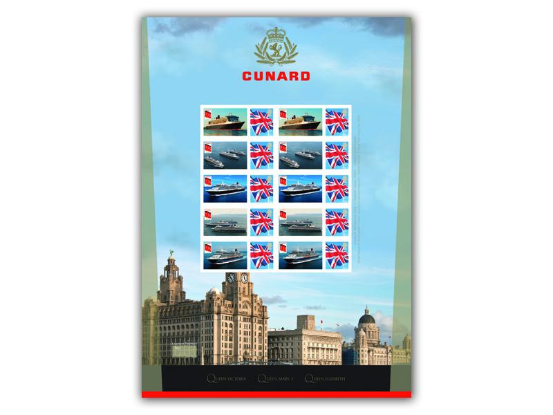 Celebrating the 175th Anniversary of Cunard Stamp Sheet