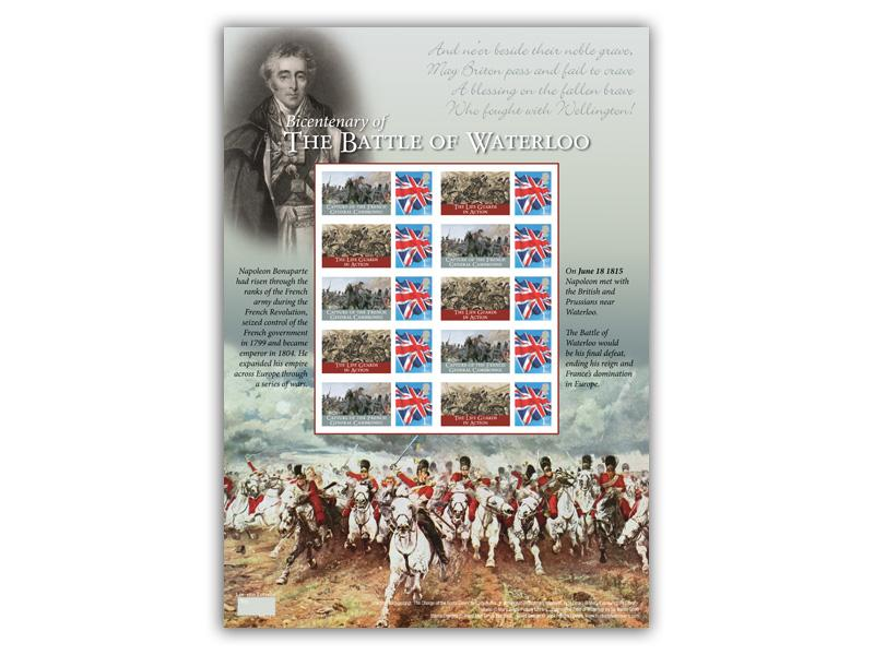 200th Anniversary of the Battle of Waterloo Stamp Sheet