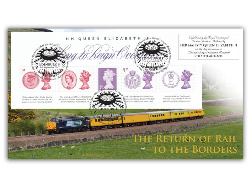 Long to Reign Over Us Scottish Borders Miniature Sheet