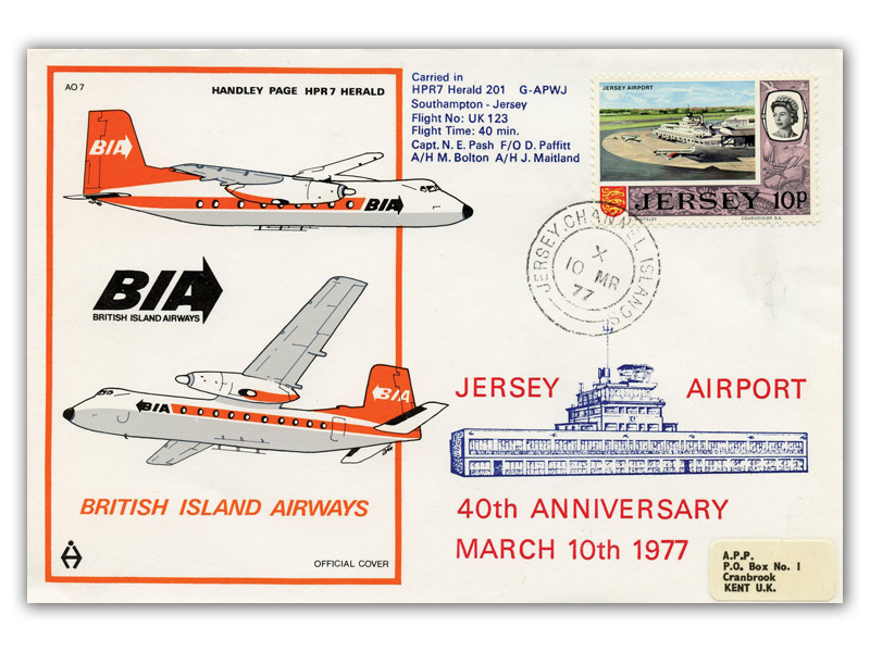 low priced 493c4 ca14a Buckingham Covers | Channel Islands Flight First Day Covers ...