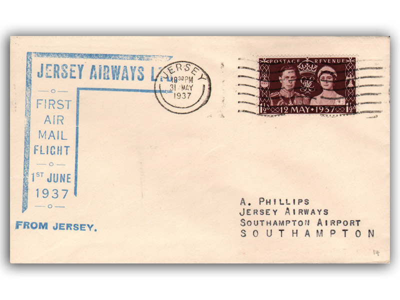 brand new ce13a 5f11d Buckingham Covers | Channel Islands flight First Day Covers ...
