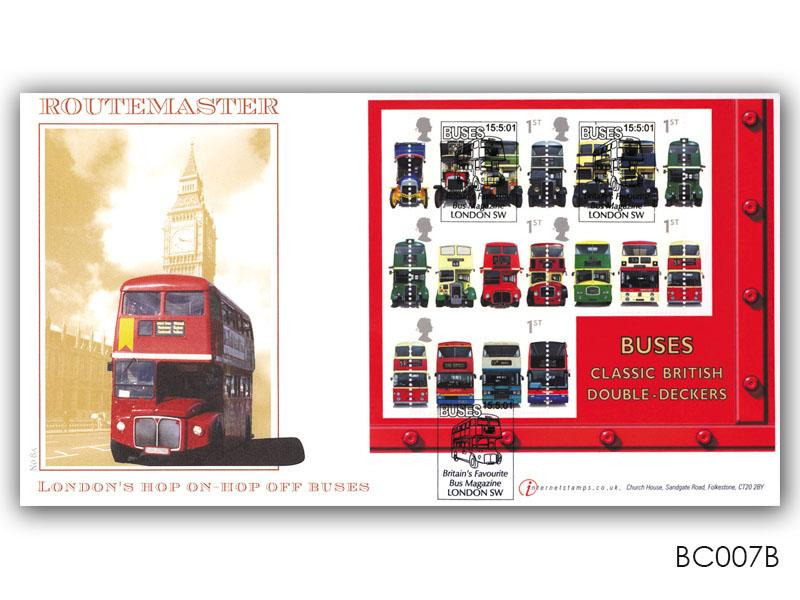 150th Anniversary of the First Double Decker Bus Miniature Sheet Cover