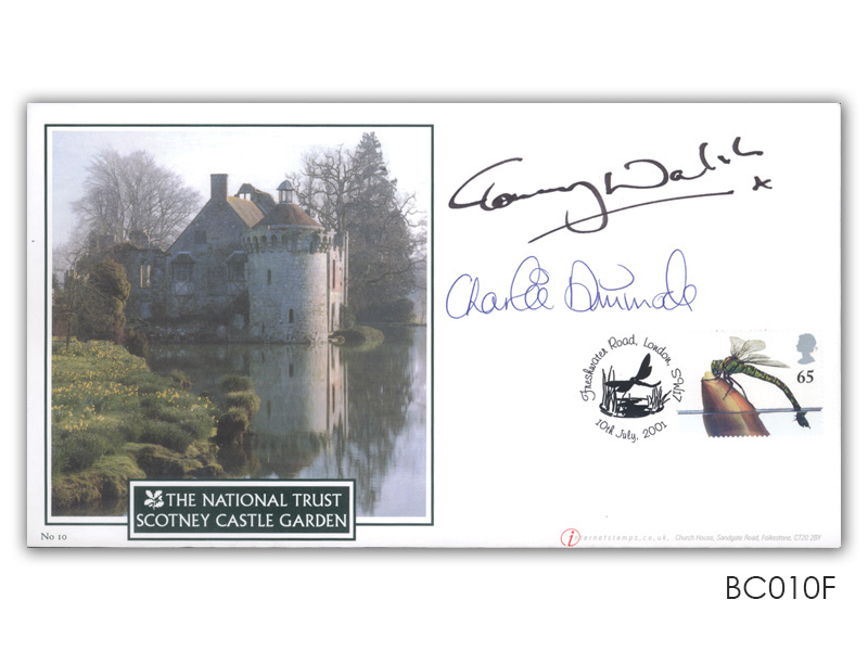 Single stamp Ponds, double signed