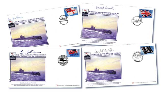 Centenary of The Royal Navy Submarine Museum Set of 4 Signed Covers