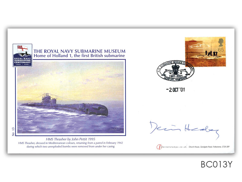 Submarine Museum cover signed Healey