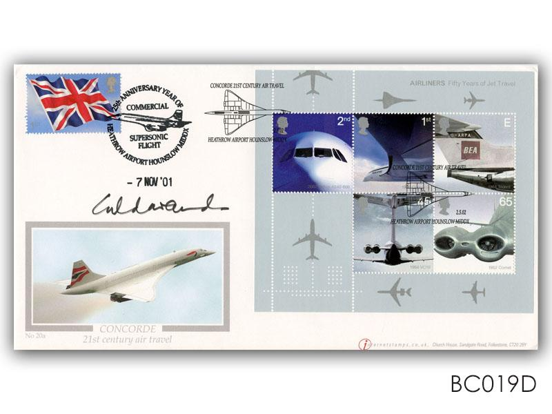 50th Anniversary of Passenger Jet Aviation - Concorde Miniature Sheet