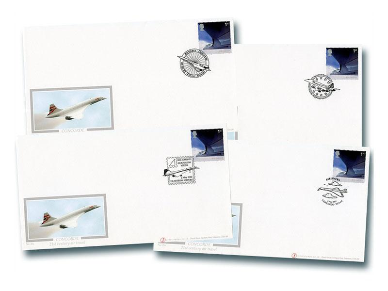 50th Anniversary of Passenger Jet Aviation - Concorde Set of 4 Covers