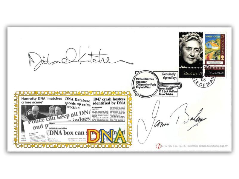 The Secret of Life - DNA Agatha Christie IOM Stamp