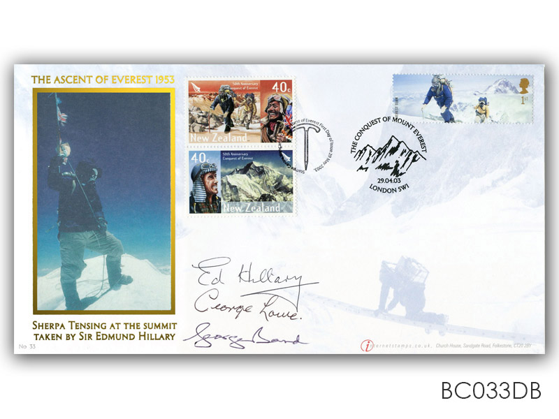 Everest Extreme Endeavours UK/New Zealand Signed Cover