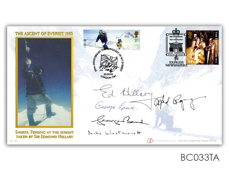 Everest Extreme Endeavours/Coronation Signed Cover