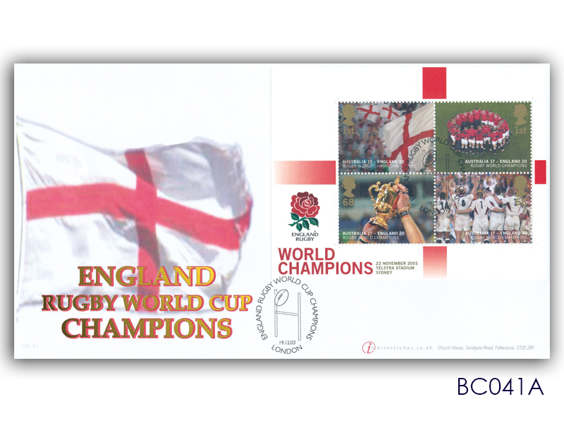 England Winners - Rugby World Cup Champions