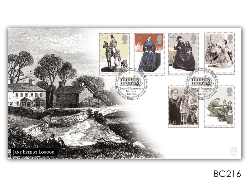 Jane Eyre at Lowood Stamps Cover
