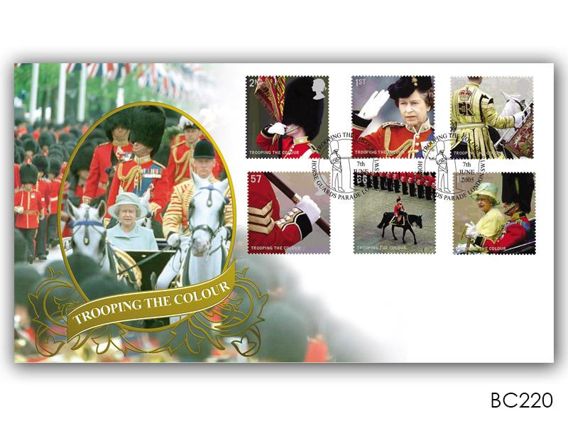 Trooping the Colour Stamps Cover