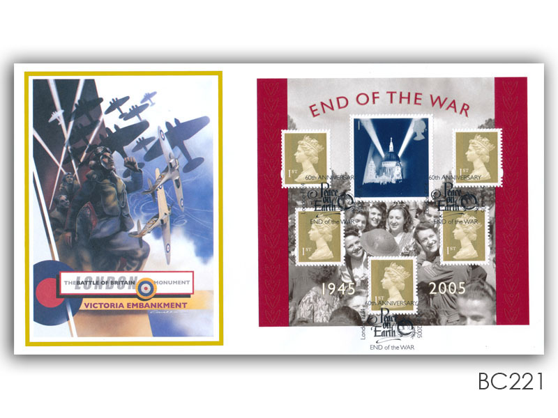 60th Anniversary of the End of the Second World War Miniature Sheet Cover