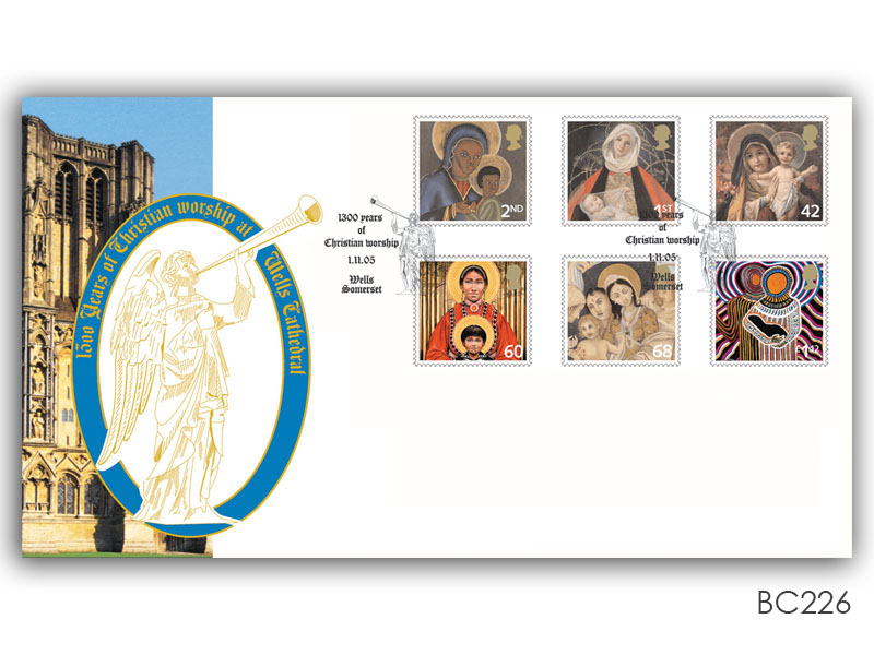 Wells Cathedral 2005 Christmas Stamps Cover