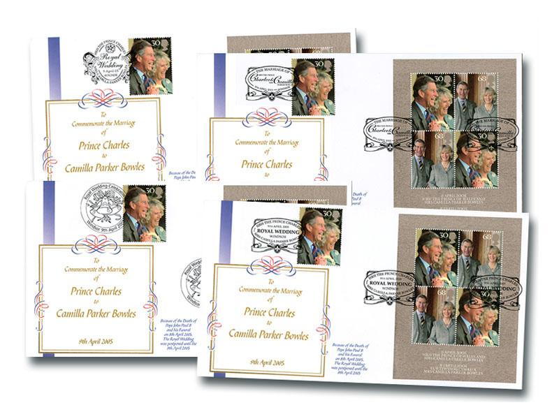 Royal Wedding - The Prince of Wales & Camilla Set of 4 Covers