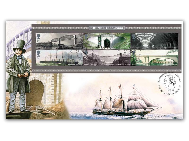 Bicentenary of Isambard Kingdom Brunel Miniature Sheet Cover