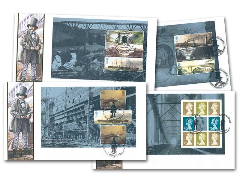 Bicentenary of Isambard Kingdom Brunel Prestige Booklet Set