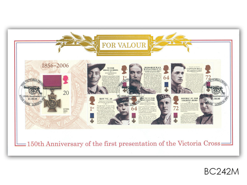 150th Anniversary of the Victoria Cross Miniature Sheet Cover