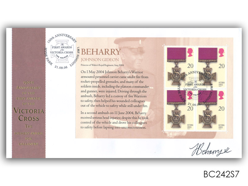 150th Anniversary of the Victoria Cross, signed Johnson Beharry VC