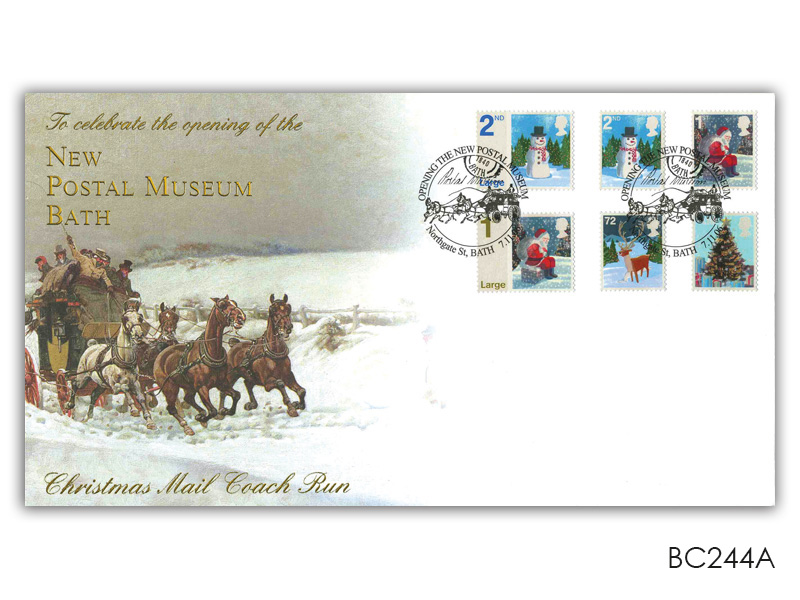 Bath Postal Museum Christmas Stamps Cover