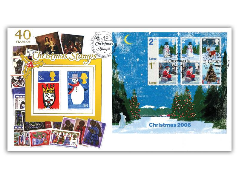 Christmas 2006 - 40 Years of Christmas Stamps Miniature Sheet Cover