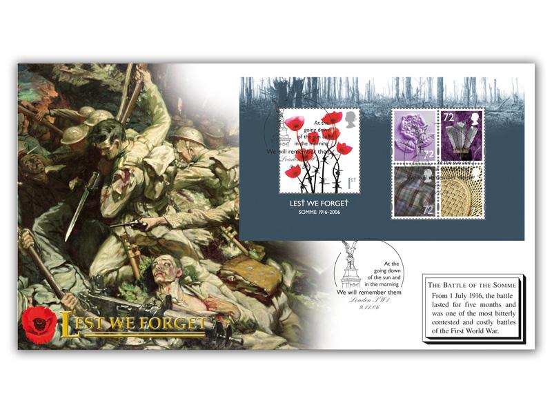 Lest We Forget 2006 Miniature Sheet Cover