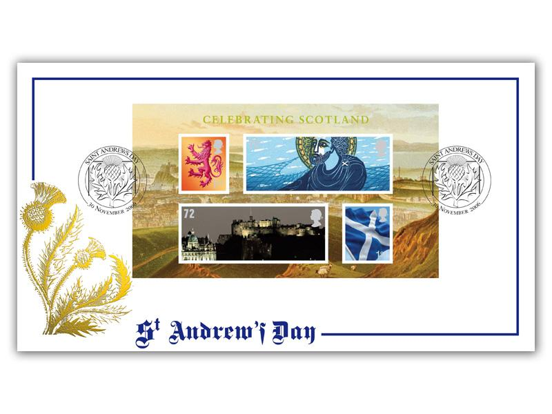 Celebrating Scotland Miniature Sheet Cover