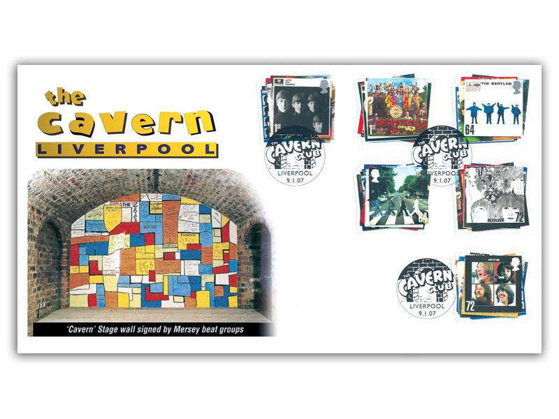 The Beatles: 50th Anniversary of the Cavern Club Stamps Cover