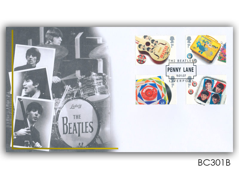 The Beatles: Stamps torn from the Miniature Sheet