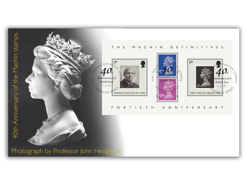 40th Anniversary of the Machin Definitives Miniature Sheet Cover