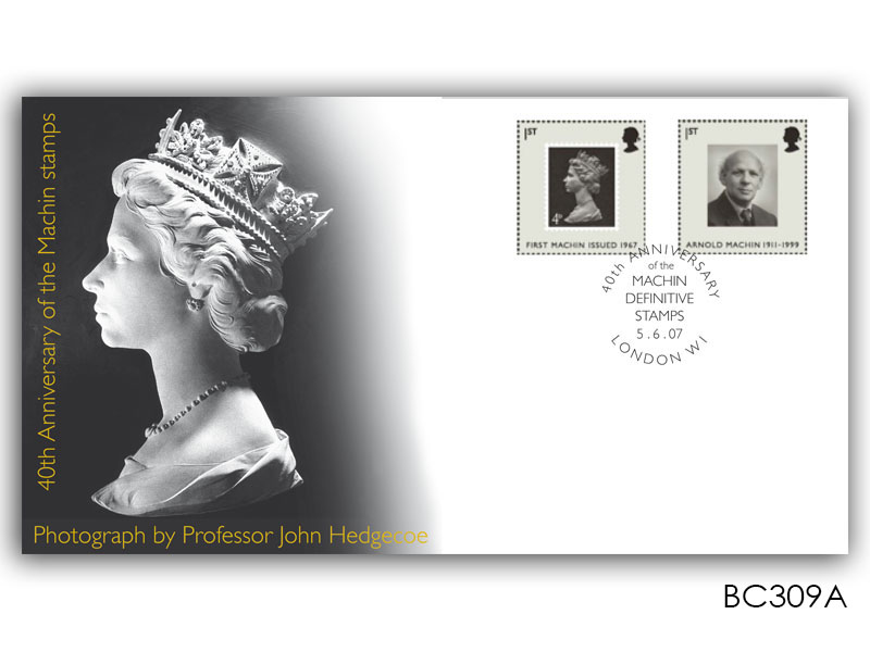 40th Anniversary of the Machin Definitives Stamps torn from the Miniature Sheet