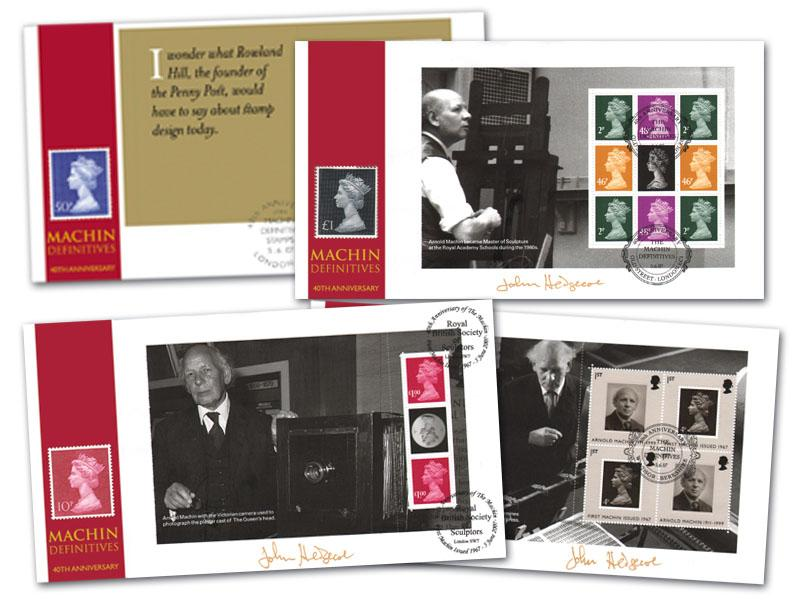 40th Anniversary of the Machin Prestige Booklet Set of 4 Covers