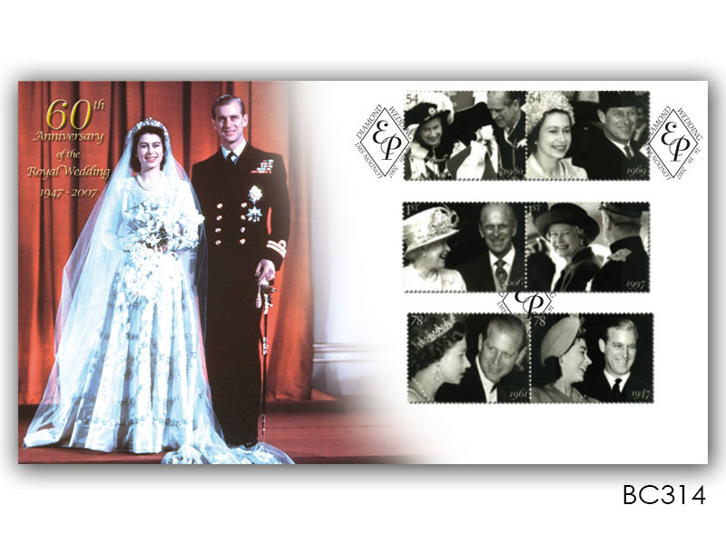 Queens Diamond Wedding Anniversary Stamps Cover