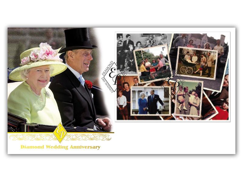 Queens Diamond Wedding Anniversary Miniature Sheet Cover