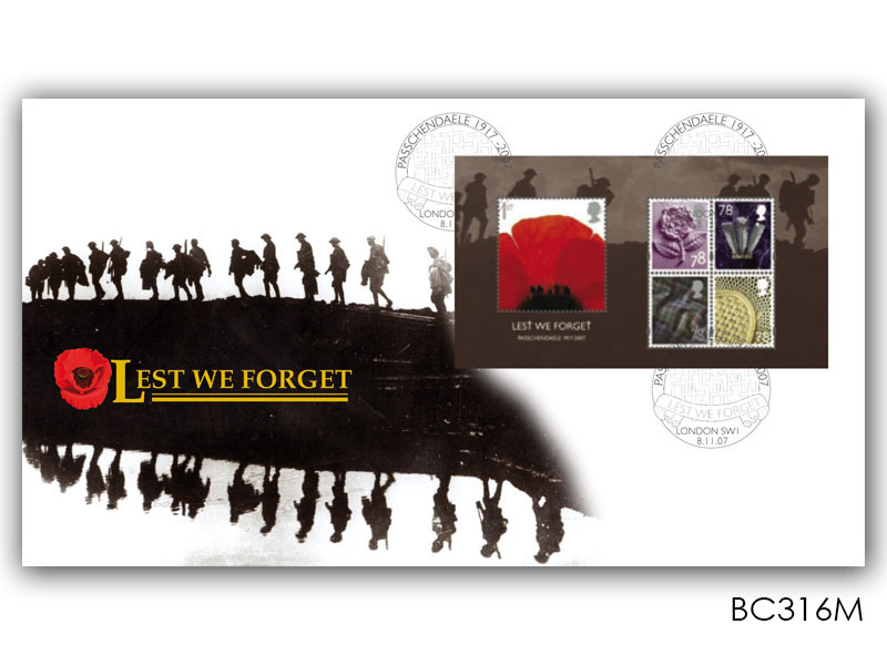 Lest we Forget 2007 Miniature Sheet Cover
