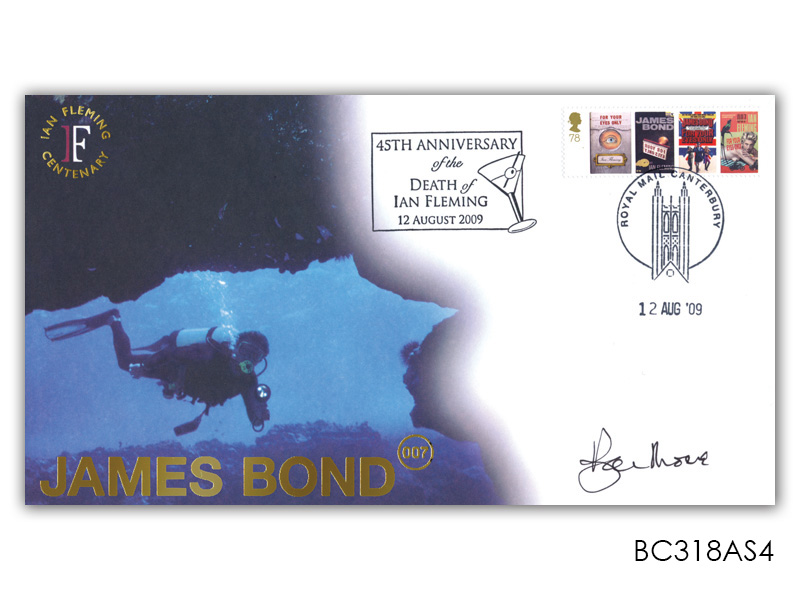 James Bond Ian Fleming Anniversary Diver Single Stamp Cover