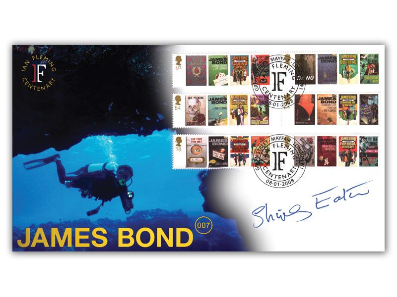 James Bond Ian Fleming Centenary Diver Stamps Cover