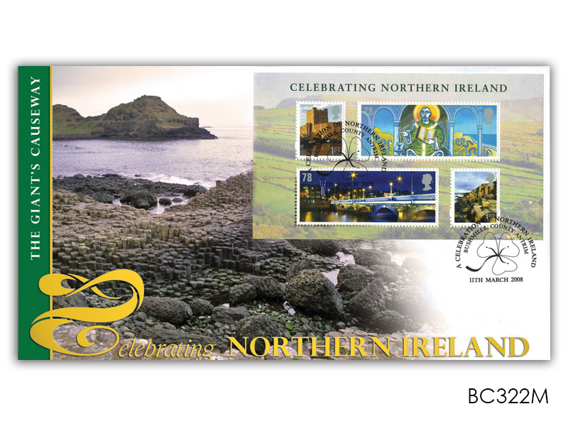 Celebrating Northern Ireland Miniature Sheet Cover