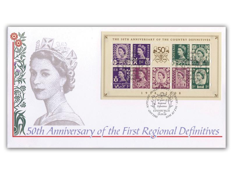2008 50th Anniversary of the Country Definitives Miniature Sheet