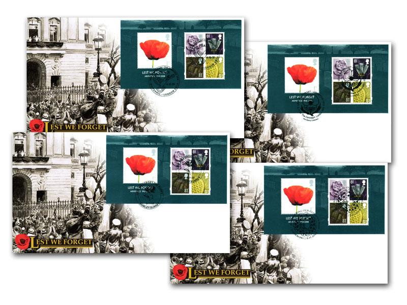 Lest we Forget 2008 Set of 4 Covers